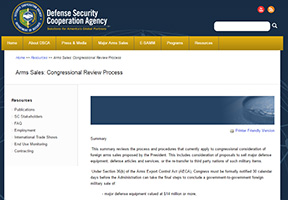Arms Sales: Congressional Review Process Cover