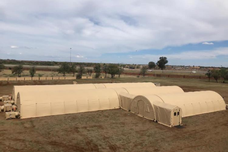 A field hospital was donated to the South African Ministry of Health by U.S. Africa Command and erected in Mahikeng, Northwest Province, South Africa.